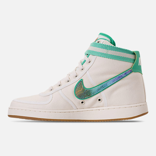 Left view of Men's Nike Vandal High Supreme TD Casual Shoes in Sail/Multicolor/Gum Light Brown