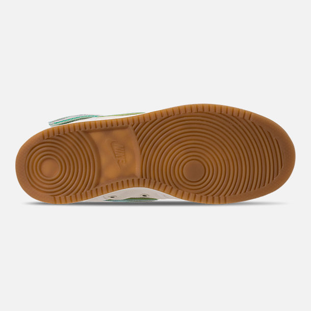 Bottom view of Men's Nike Vandal High Supreme TD Casual Shoes in Sail/Multicolor/Gum Light Brown