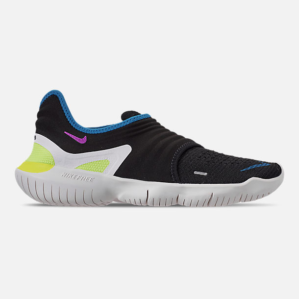 sale retailer ff724 8c83b Right view of Men s Nike Free RN Flyknit 3.0 Running Shoes in Black Hyper  Violet