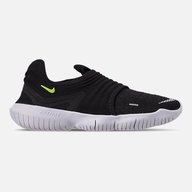 65a46334e092 Right view of Women s Nike Free RN Flyknit 3.0 Running Shoes in Black Volt