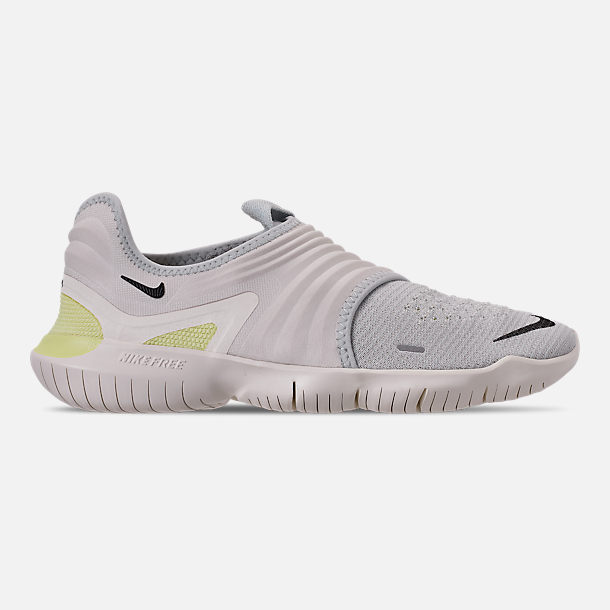 Right view of Women s Nike Free RN Flyknit 3.0 Running Shoes in Pure  Platinum Black 26ac2f92b