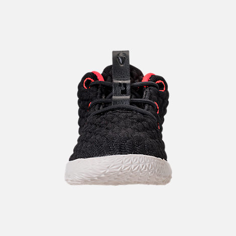 Front view of Kids' Toddler Nike LeBron 15 Basketball Shoes in Black/Sail/Bright Crimson