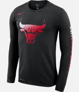 a1a310f481a21 Men's Nike Chicago Bulls NBA Mezzo Logo Performance Long-Sleeve T-Shirt