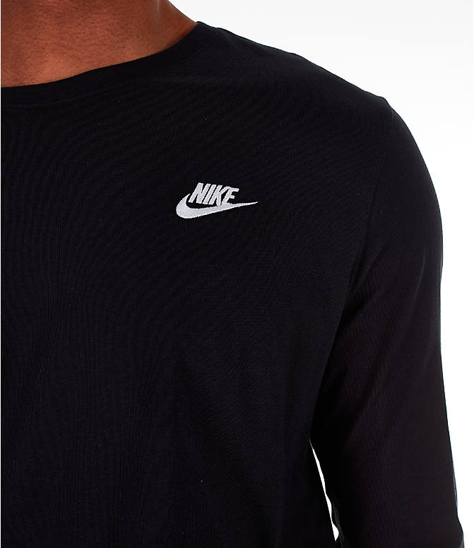 Detail 1 view of Men's Nike Futura Long-Sleeve T-Shirt in Black