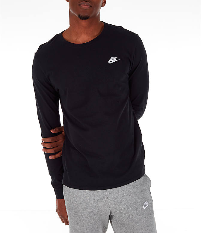 Detail 2 view of Men's Nike Futura Long-Sleeve T-Shirt in Black