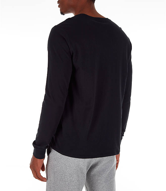 Back Left view of Men's Nike Futura Long-Sleeve T-Shirt in Black