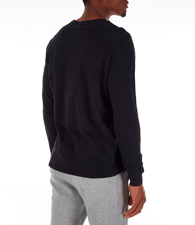 Back Right view of Men's Nike Futura Long-Sleeve T-Shirt in Black