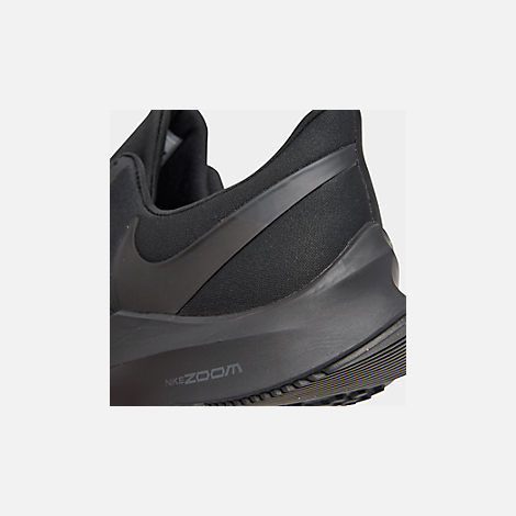 c9111f1ba Front view of Men s Nike Air Zoom Winflo 6 Running Shoes in Black Black