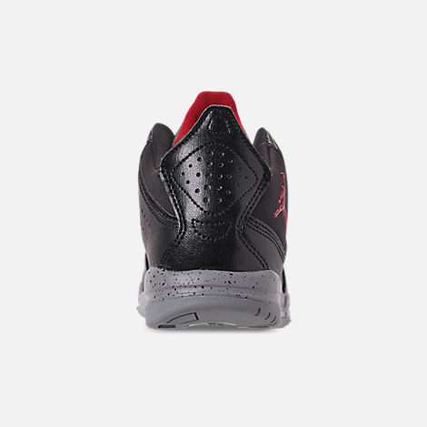 Back view of Boys' Little Kids' Air Jordan Courtside 23 Training Shoes in Black/Gym Red/Particle Grey