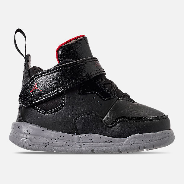 Right view of Boys' Toddler Air Jordan Courtside 23 Training Shoes in Black/Gym Red/Particle Grey