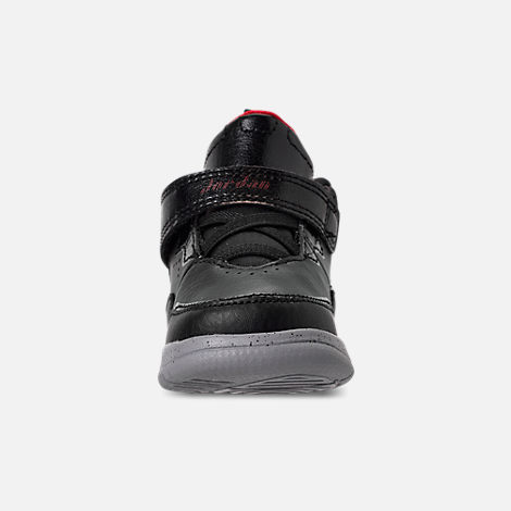 Front view of Boys' Toddler Air Jordan Courtside 23 Training Shoes in Black/Gym Red/Particle Grey