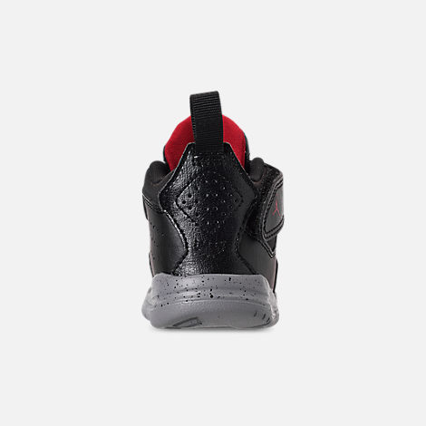 Back view of Boys' Toddler Air Jordan Courtside 23 Training Shoes in Black/Gym Red/Particle Grey