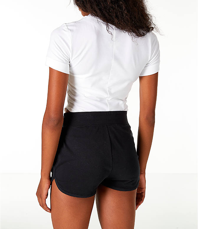 Back Left view of Women's Nike Sportswear Essential Bodysuit in White/Black