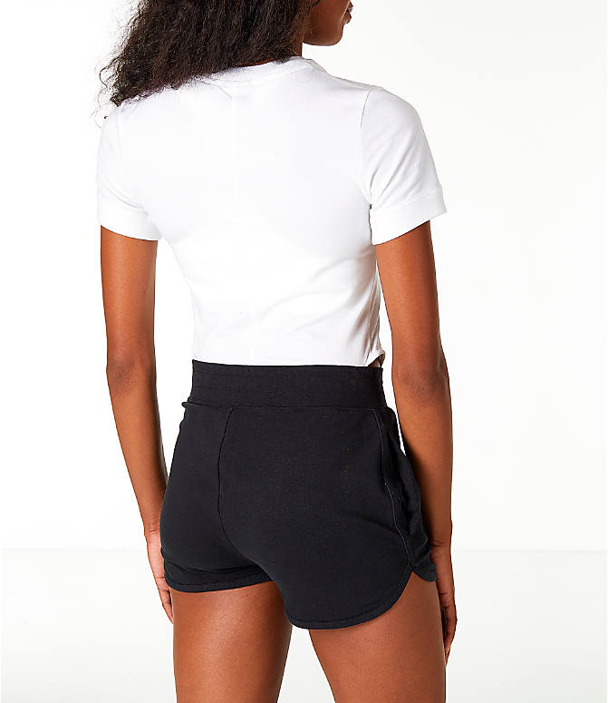 Back Right view of Women's Nike Sportswear Essential Bodysuit in White/Black