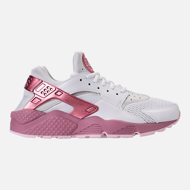 Right view of Women s Nike Air Huarache Run Casual Shoes in White Elemental  Pink  f15588f339