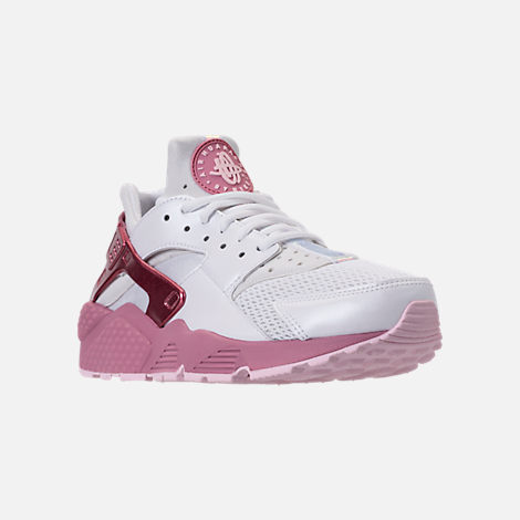 on sale 7b491 c6826 ... free shipping three quarter view of womens nike air huarache run casual  shoes in white elemental