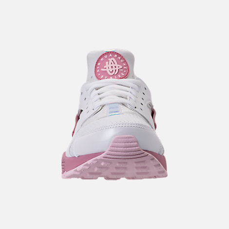 uk availability 8977b b8dde ... clearance front view of womens nike air huarache run casual shoes in white  elemental pink 94809