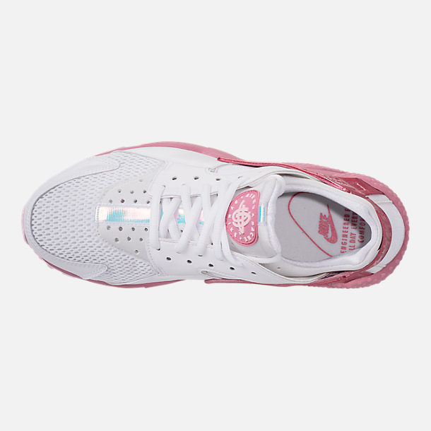 a0a1dd2a1f103 ... hot top view of womens nike air huarache run casual shoes in white  elemental pink 5300c