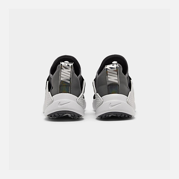 Left view of Big Kids' Nike Huarache Extreme SE JDI Casual Shoes in Black/Metallic Silver/Dark Grey/Pure Platinum