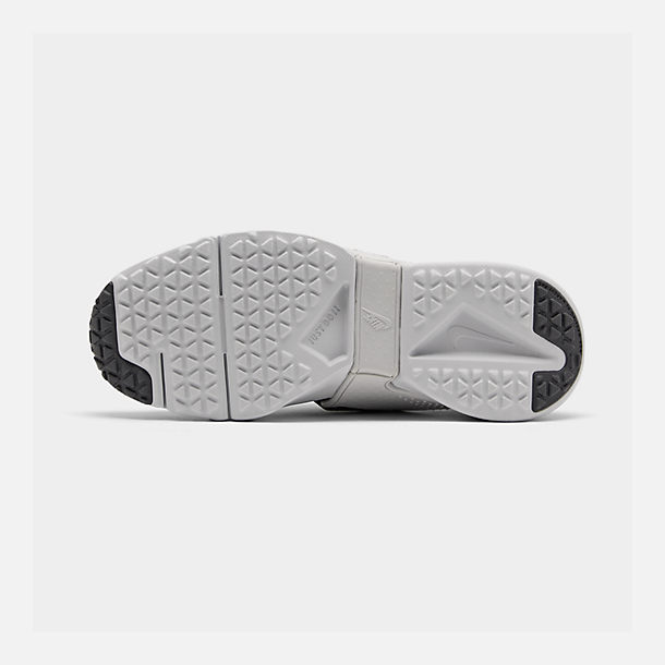 Bottom view of Big Kids' Nike Huarache Extreme SE JDI Casual Shoes in Black/Metallic Silver/Dark Grey/Pure Platinum