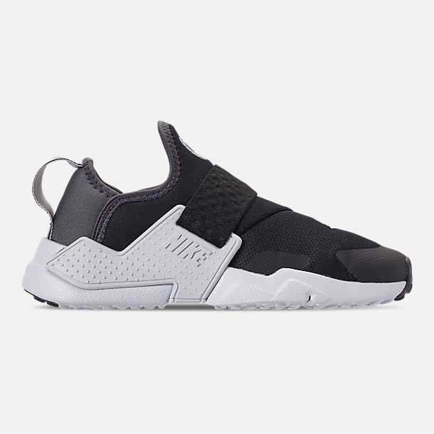 Right view of Little Kids' Nike Huarache Extreme SE Casual Shoes in Black/Metallic Silver/Dark Grey