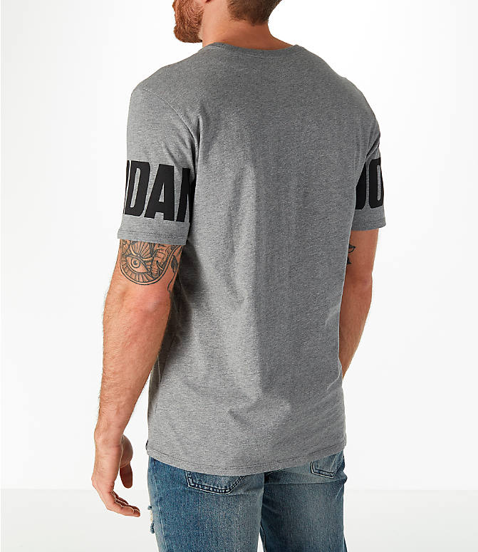 Back Left view of Men's Jordan Sportswear Oversized Jumpman T-Shirt in Carbon Heather