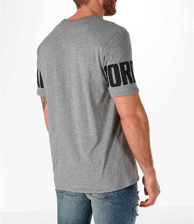 Back Right view of Men's Jordan Sportswear Oversized Jumpman T-Shirt in Carbon Heather