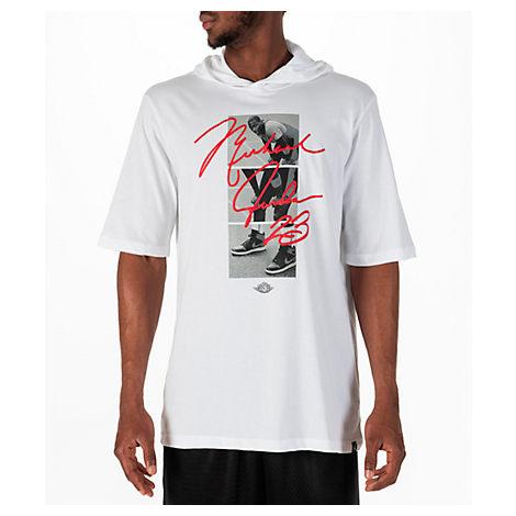 6f1fecf6 NIKE MEN'S JORDAN SPORTSWEAR MJ SIGNATURE HOODED T-SHIRT, WHITE ...
