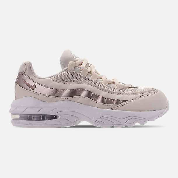 Right view of Girls' Little Kids' Nike Air Max 95 Casual Shoes in Phantom/Metallic Red Bronze/White
