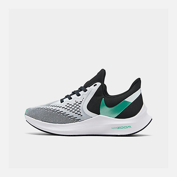 257a0861c6afb Right view of Women's Nike Air Zoom Winflo 6 Running Shoes in Black/Hyper  Jade