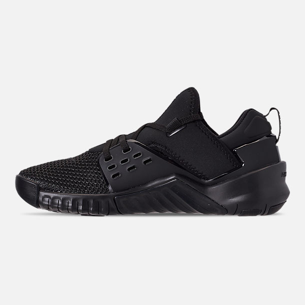Left view of Men's Nike Free X Metcon 2 Training Shoes in Black/Black