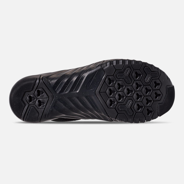 Bottom view of Men's Nike Free X Metcon 2 Training Shoes in Black/Black