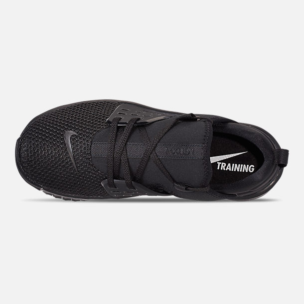 Top view of Men's Nike Free X Metcon 2 Training Shoes in Black/Black