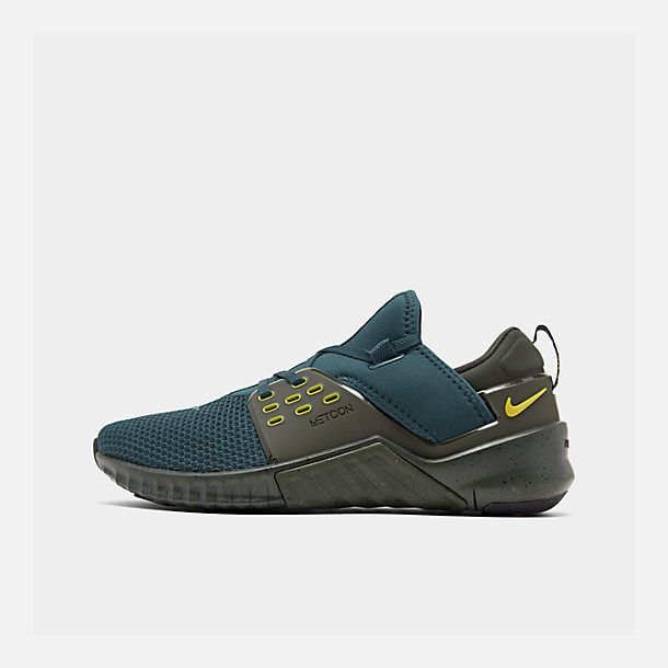 Right view of Men's Nike Free X Metcon 2 Training Shoes in Nightshade/Bright Citron/Sequoia