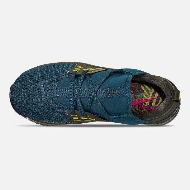 Top view of Men's Nike Free X Metcon 2 Training Shoes in Nightshade/Bright Citron/Sequoia