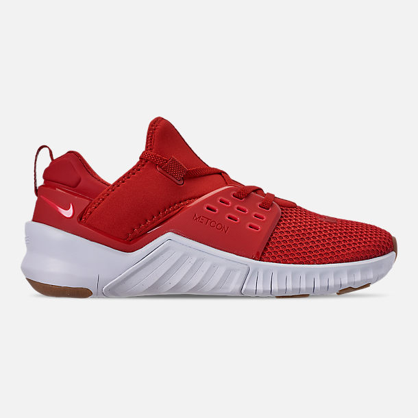 Right view of Men's Nike Free X Metcon 2 Training Shoes in Mystic Red/Red Orbit/Gum Light Brown