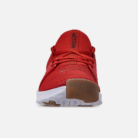 Front view of Men's Nike Free X Metcon 2 Training Shoes in Mystic Red/Red Orbit/Gum Light Brown