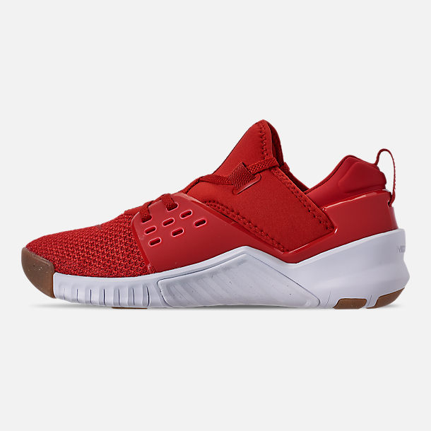 Left view of Men's Nike Free X Metcon 2 Training Shoes in Mystic Red/Red Orbit/Gum Light Brown