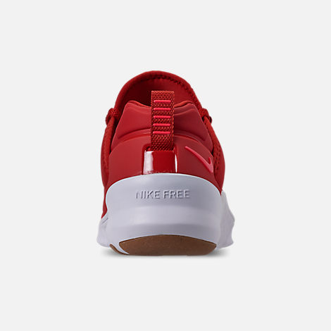 Back view of Men's Nike Free X Metcon 2 Training Shoes in Mystic Red/Red Orbit/Gum Light Brown