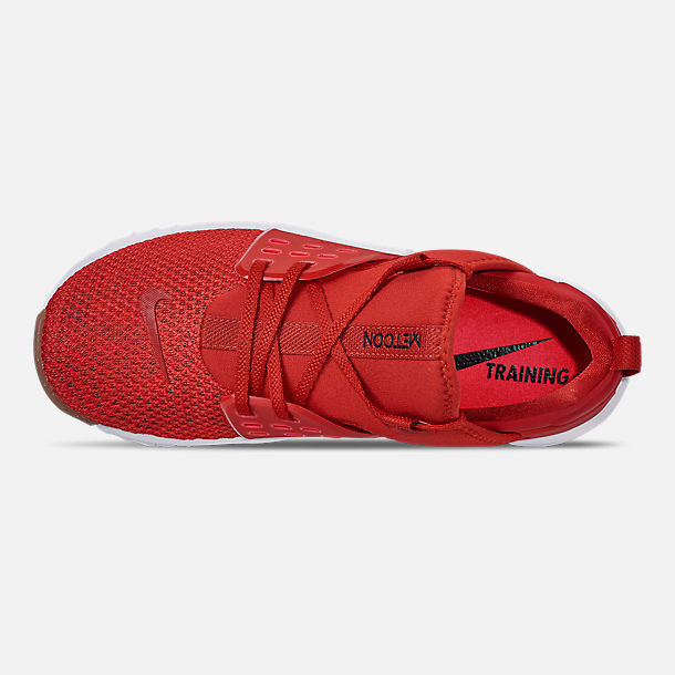 Top view of Men's Nike Free X Metcon 2 Training Shoes in Mystic Red/Red Orbit/Gum Light Brown