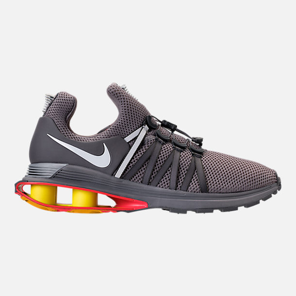 Right view of Unisex Nike Shox Gravity Casual Shoes in Gunsmoke/White/Total  Crimson