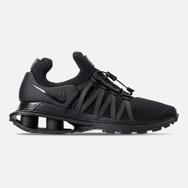 Right view of Women's Nike Shox Gravity Casual Shoes in Black/Black