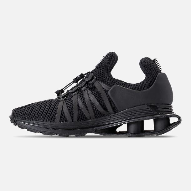 Left view of Women's Nike Shox Gravity Casual Shoes in Black/Black