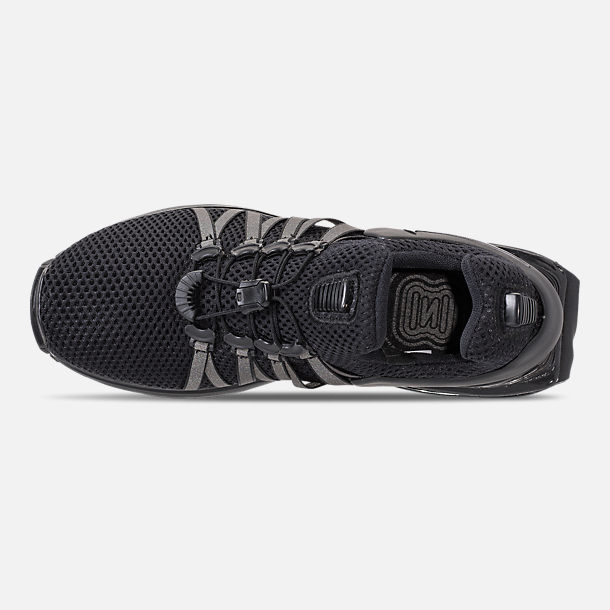 Top view of Women's Nike Shox Gravity Casual Shoes in Black/Black