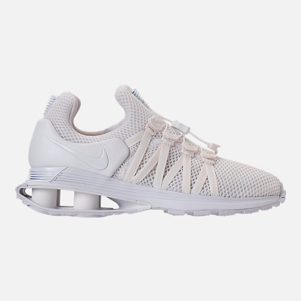 Right view of Women's Nike Shox Gravity Casual Shoes in White/White