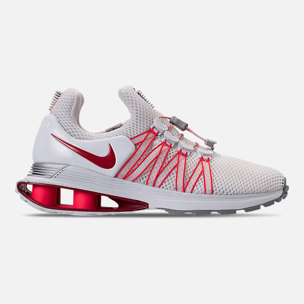 9756d998d42179 Right view of Women s Nike Shox Gravity Casual Shoes in White University  Red Solar