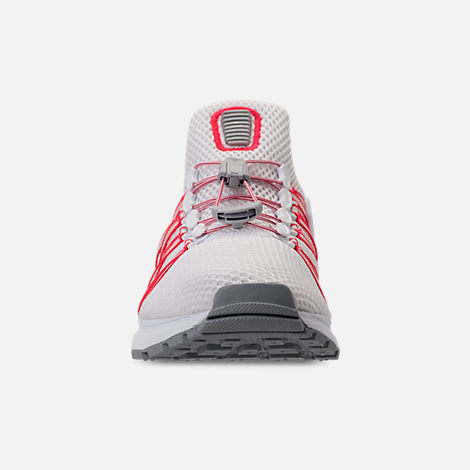 Front view of Women s Nike Shox Gravity Casual Shoes in White University Red  Solar e14971b7e
