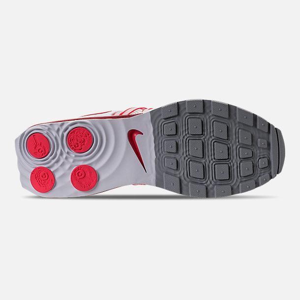 Bottom view of Women s Nike Shox Gravity Casual Shoes in White University  Red Solar 4b9ba8152