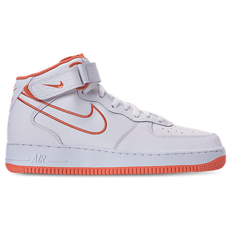 NIKE MEN'S AIR FORCE '07 MID LEATHER CASUAL SHOES, WHITE ModeSens