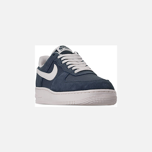 Three Quarter view of Men's Nike Air Force 1 '07 2 Casual Shoes in Monsoon Blue/Sail